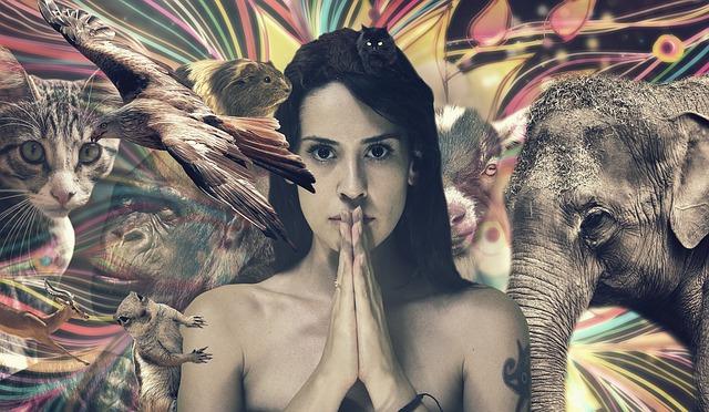 žena a zvířata