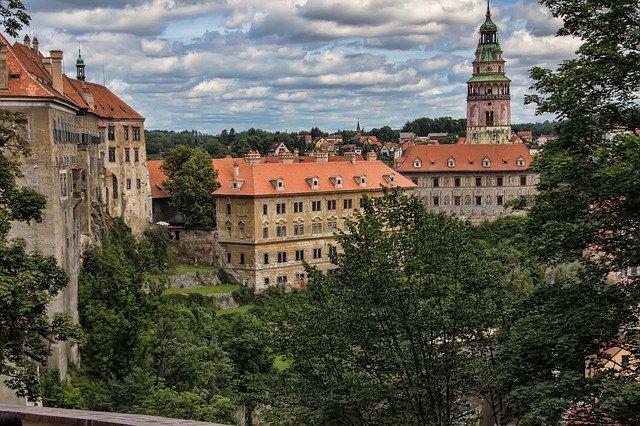 budovy v českém krumlově