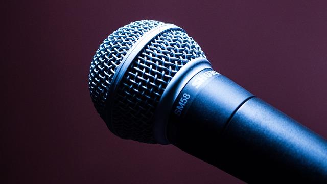 kovový mikrofon